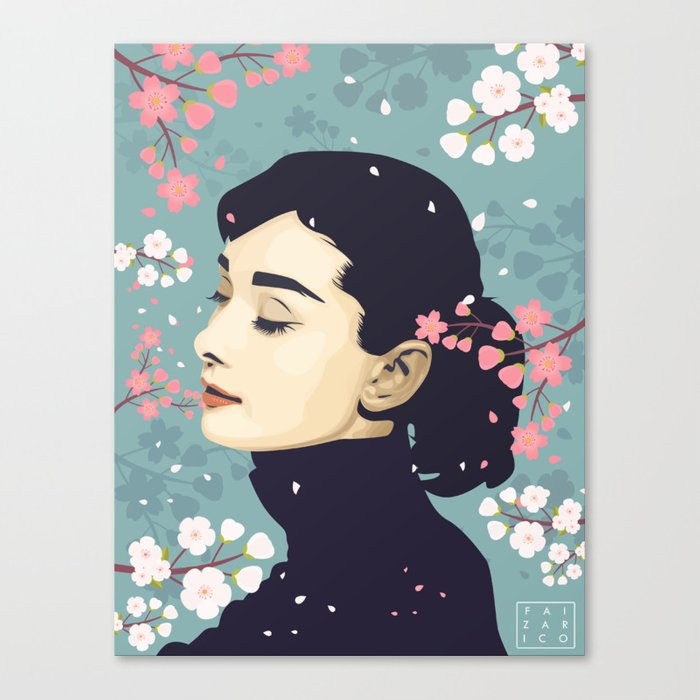 Bloom Hepburn Canvas Print