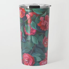 Camellias, lips and berries. Travel Mug