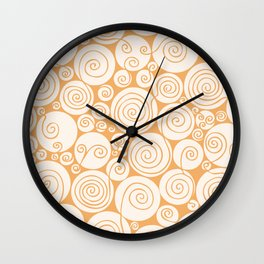 Still Waiting For Spring Bright Orange Pattern Wall Clock