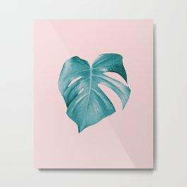 Monstera Leaf #2 #tropical #decor #art #society6 Metal Print
