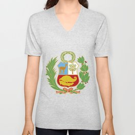 Peru Shield Unisex V-Neck