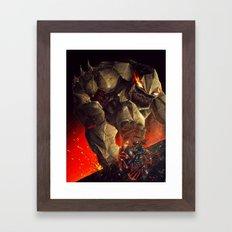Earth Elemental battle Framed Art Print