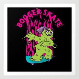Booger Skate Art Print