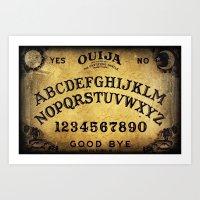 ouija Art Prints featuring Ouija Board by Lostfog Co.