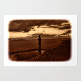 Another Place on Crosby Beach Art Print