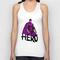 hero Tank Tops featuring Hero by Logan_J