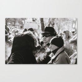 Italian Onlookers Canvas Print