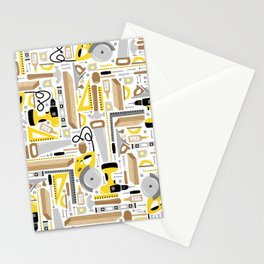 Measure Twice, Cut Once Stationery Cards