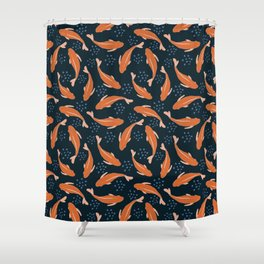 Goldfish in the pond Shower Curtain