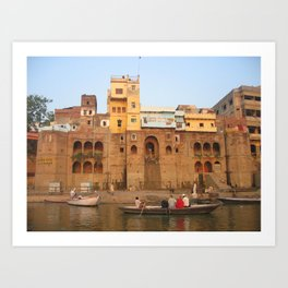 The Sacred Ganges River in India (2004a) Art Print