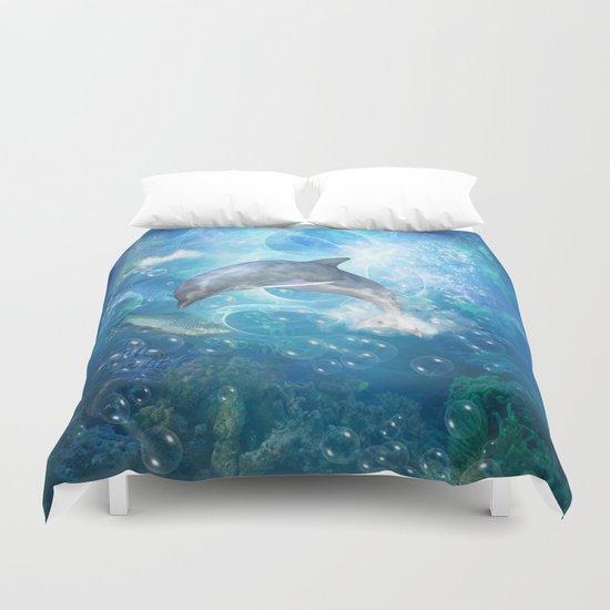 Cute dolphin Duvet Cover