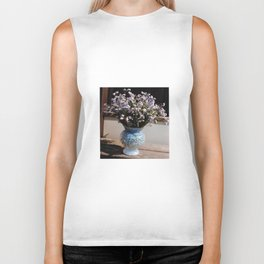 A bouquet with forget me not - PHOTO Biker Tank