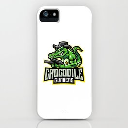 Crocodile Gunners Esport Mascot Logo iPhone Case
