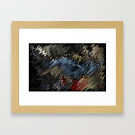 blue condition II Framed Art Print