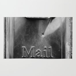 Mail - Black and White Rug