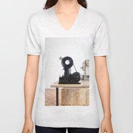 Vintage Sewing Machines Unisex V-Neck