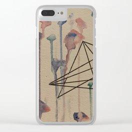 Organic Geometry Clear iPhone Case