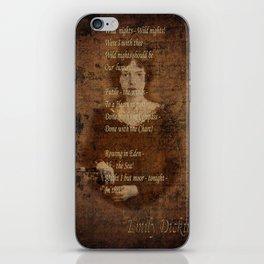 Emily Dickinson 4 iPhone Skin
