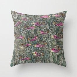 Ostriches Throw Pillow