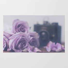 Photogenic Purple Roses Rug