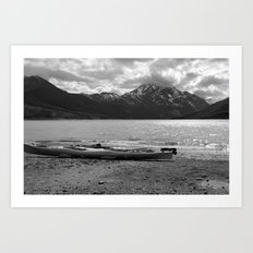 Eklutna Lake Art Print