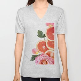 Grapefruit & Roses 04 Unisex V-Neck