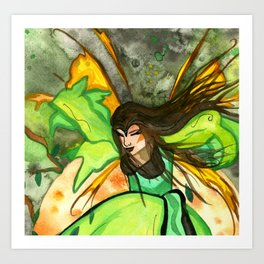 Elfrida The Brave Fairy Close-Up Art Print