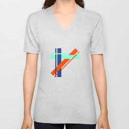 Bright Stripes Unisex V-Neck
