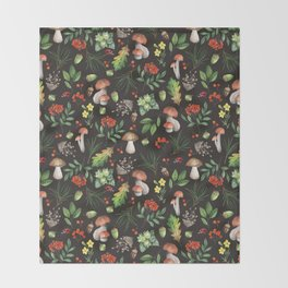 Forest. Brown pattern Throw Blanket