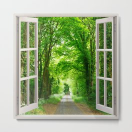 Forest Way Metal Print