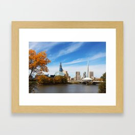 Downtown Winnipeg 2 Picture Panorama Framed Art Print