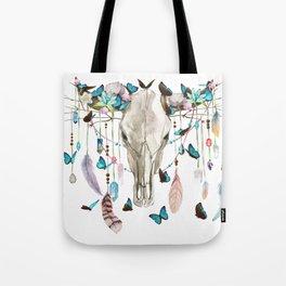 Butterfly Cow Skull Spirit Gazer Tote Bag