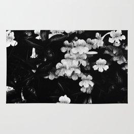 Trumpet Flowers (Black & White) Rug