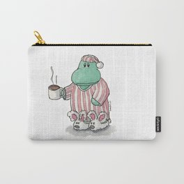 I need coffee; sleepy hippo illustration Carry-All Pouch