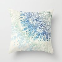 dahlia Throw Pillows featuring Dahlia by rskinner1122