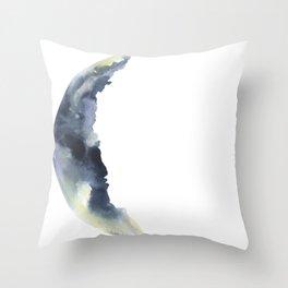 Crescent Moon Watercolor Throw Pillow
