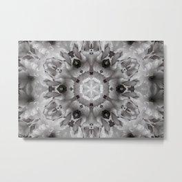 White Satin Frills Metal Print