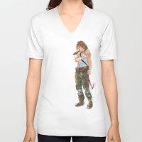 tomb raider V-neck T-shirts featuring Tomb Raider by Robbie Drew Dixon