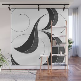Letter B - Script Lettering Cropped Design Wall Mural
