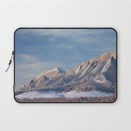 Winter Snow on Flatirons in Boulder Colorado Laptop Sleeve
