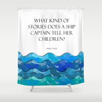 humor Shower Curtains featuring Maritime Humor for Kids by Liesl Marelli