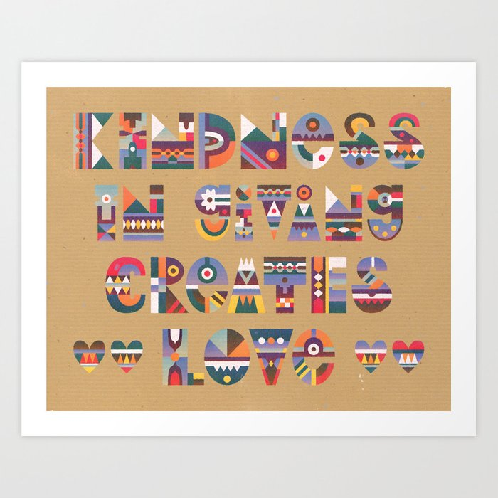 Kindness Art Print