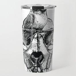 Mr. Sparrow and the cat's skull Travel Mug