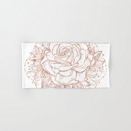 Mandala Lunar Rose Gold Hand & Bath Towel