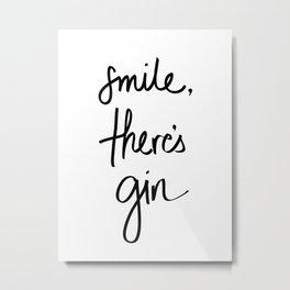 Smile - Gin Metal Print