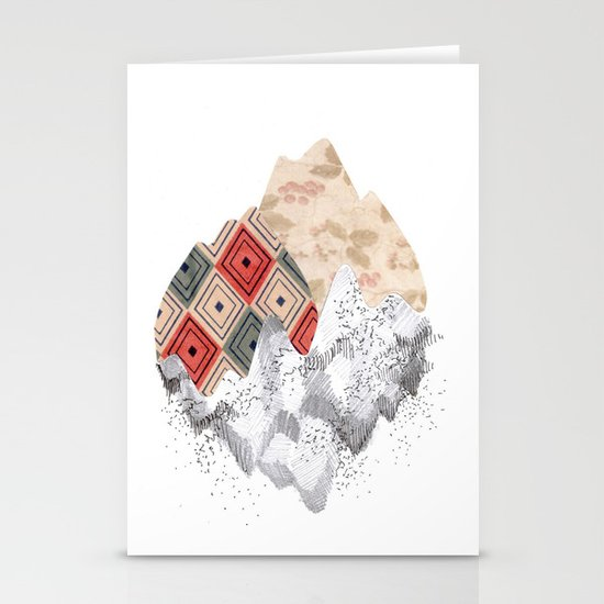 montañas collage Stationery Cards