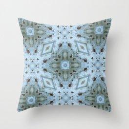 Summer Snowflake Throw Pillow