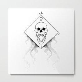 Grin Reaper - White Metal Print