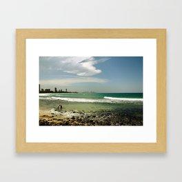 City Beach Framed Art Print
