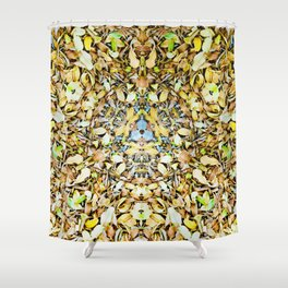 A Circle of Leaves Shower Curtain